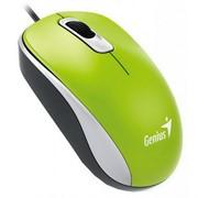 Мышь GENIUS DX-110, USB, G5, зелёная (green, optical 1000dpi, подходит под обе руки)     31010116105
