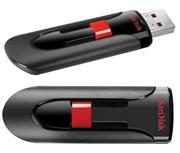 Флеш накопитель 128GB SanDisk CZ60 Cruzer Glide, USB 2.0, Black     SDCZ60-128G-B35