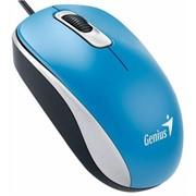 GENIUS Мышь DX-110, USB, G5, голубая (blue, optical 1000dpi, подходит под обе руки)     31010116103