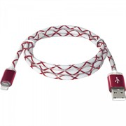 Defender кабель ACH03-03LT красный, LED, USB-Lightning 1м     87552