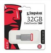 Kingston 32GB Флеш накопитель DataTraveler 50, USB 3.0, Металл/Красный     DT50/32GB