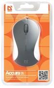 Defender Мышь Accura MS-970 серый+белый,3 кнопки,1000 dpi     52970