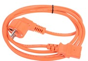 Кабель питания  220V <1.8м> (EURO) 3G0,75mm2 VCOM {CE021-O}, оранжевый     CE021-CU0.75-1.8M-O_87022