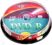 Диск DVD+R VS 8,5 GB, 8x Double Layer, Slim Case, Ink Printable     20687