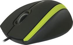 Defender Мышь MM-340 черный+зеленый,3 кнопки,1000 dpi     52346 - фото 10040