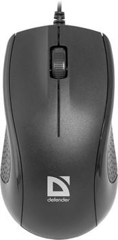 Defender Мышь Optimum MB-160 оптическая 2 + колесо кнопка 1000 dpi USB каб - 1,1м чёрный.     52160 - фото 10041