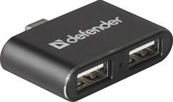 Defender Универсальный USB разветвитель Quadro Dual USB3.1 TYPE C - USB2.0, 2порта     83207 - фото 10151