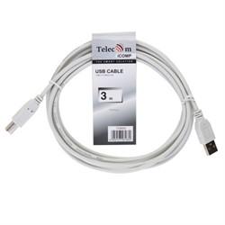 Кабель USB2.0  A-->B (3.0м) Telecom     TC6900-3.0M_461860 - фото 10214
