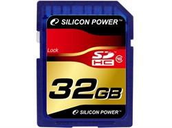 Флеш карта SD 32GB Silicon Power SDHC Class 10     SP032GBSDH010V10 - фото 10265