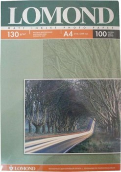 Lomond Матовая двусторонняя бумага A4, 130г/м2, 100 листов     0102004 - фото 4445