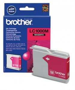 Картридж Brother DCP130C/330С, MFC-240C/5460CN/DCP350 Magenta, 400 pages (5%)     LC1000M - фото 4580