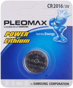 Батарейка CR2016, 3 В, Pleomax (1 шт.)     CR2016 - фото 4875