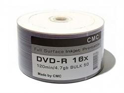 Диск DVD+R Ritek/CMC/MBI 4.7 Gb, 16x, Bulk (50), Printable     41182 - фото 4957