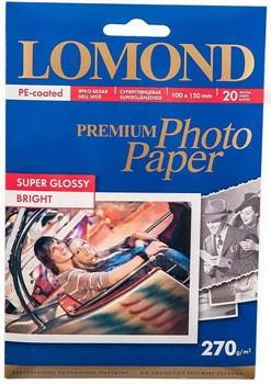 Lomond Суперглянцевая фотобумага 10х15, 270г/м2, 20л.     1106102 - фото 5295