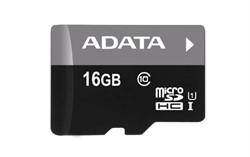 Флеш карта microSD 16GB A-DATA microSDHC Class 10 UHS-I (SD адаптер)     AUSDH16GUICL10-RA1 - фото 9268