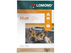 Фотобумага Lomond Односторонняя, матовая,  A3 / 230гр./ 50 листов     0102156 - фото 9403