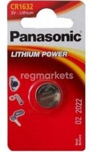 Батарейка CR1632, 3 В, Panasonic (1 шт.)     CR1632 - фото 9449