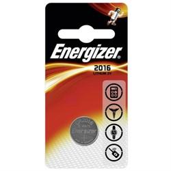 Батарейка CR2016, 3 В, ENERGIZER (1 шт.)     CR2016 - фото 9451