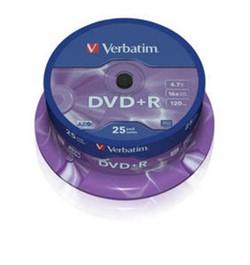 DVD+R 16x Cake 25 Verbatim     43500 - фото 9458