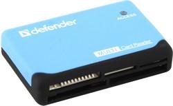 Defender Кардридер ULTRA, работает с картами большого объема + кабель USB 2.0 A(M) - MiniB (M) длина 1 м.     83500 - фото 9536