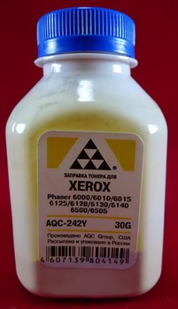 Тонер Xerox Phaser 6000/6010/6015/6125/6128/6130/6140/6500/6505 Yellow (фл. 30г) AQC фас. Россия     AQC-242Y - фото 9560