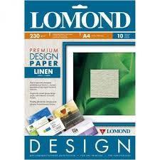 Lomond Бумага матовая с тиснением 'Лен' 230г/м2 10л А4     0933041 - фото 9883