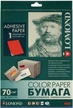 Lomond Самоклеящаяся бумага для этикеток, красная, A4, неделенная (210 x 297 мм), 80 г/м2, 50 листов     2110005 - фото 9966