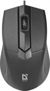 Defender Мышь проводная оптическая Optimum MB-270 черный,3 кнопки,1000 dpi, USB - 1.5м.     52270