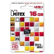 Флеш карта microSD 16GB Mirex microSDHC Class 10 UHS-I     13612-MCSUHS16