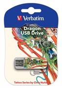 Verbatim 16GB Флеш диск Mini Tattoo Edition, USB 2.0, Дракон     49888