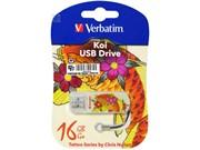 Verbatim 16GB Флеш диск Mini Tattoo Edition, USB 2.0, Рыба     49886