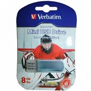 Verbatim 8GB флэш-диск Mini Sport Edition, USB 2.0, Хоккей     49878
