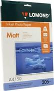 Lomond Матовая бумага 1х A4 205г/м2 50 листов     0102085