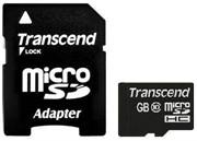 Флеш карта microSD 8GB Transcend microSDHC Class 10 (SD адаптер)     TS8GUSDHC10