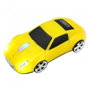 Мышь сувенирная CBR MF 500 Lambo Yellow,1200dpi, игр.автомобиль, подсветка, провод 1,8 м., USB     MF 500 Lambo Yellow