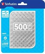Внешний жесткий диск 500GB Verbatim Store 'n' Go Style, 2.5', USB 3.0, Серебро     53196