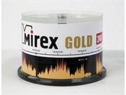 Диск CD-R Mirex 700 Mb, 24х, Gold, Cake Box (50) (цена за штуку)     201793
