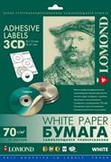 Lomond Упаковка белых наклеек для CD/DVD, 75 шт,  25 л.  d-41мм D-114мм     2101023