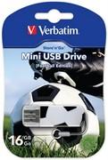 Verbatim 16GB Флеш диск Mini Sport Edition, USB 2.0, Футбол     49879