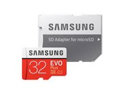 Флеш карта microSD 32GB SAMSUNG EVO PLUS microSDHC Class 10, UHS-I, U1 (SD адаптер) 20MB/s,95MB/s     MB-MC32GA/RU