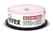Диск DVD+RW Mirex 4.7 Gb, 4x, Cake Box (10) (цена за штуку)     202639