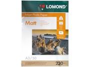Фотобумага Lomond Односторонняя, матовая,  A3 / 230гр./ 50 листов     0102156