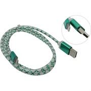 Defender кабель ACH03-03LT зеленый, LED, USB-Lightning 1м     87553