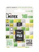 Флеш карта microSD 16GB Mirex microSDHC Class 10 (SD адаптер)     13613-AD10SD16
