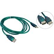 Удлинитель кабеля USB2.0 AM/AF 1,8m прозрачная изоляция Aopen/Qust (ACU202-1.8MTG)     ACU202-1.8MTG_853684